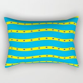Coastal Pattern On the Beach Rectangular Pillow