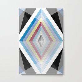 Muted tones geometric Metal Print