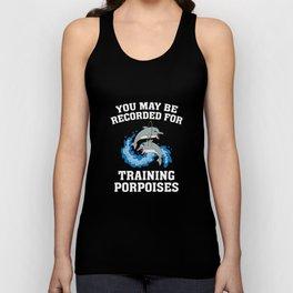 Training Porpoises Unisex Tank Top
