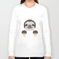 sloth Long Sleeve T-shirts featuring Sloth by Aaron Keshen
