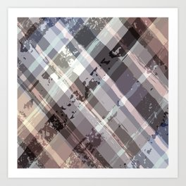 Crossword Traditional Quilt Pattern Art Print