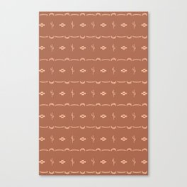 Adobe Cactus Pattern Canvas Print