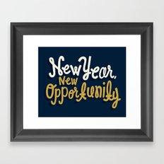 New Year, New Opportunity Framed Art Print