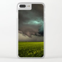 May Thunderstorm - Twisting Storm Over House in Colorado Clear iPhone Case