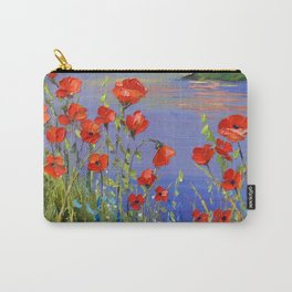 Poppies by the river Carry-All Pouch