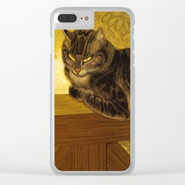 """Théophile Steinlen """"Cat on a Balustrade"""" Clear iPhone Case"""