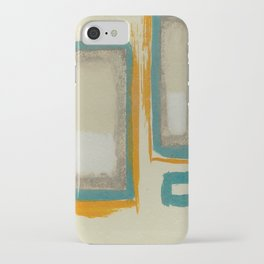 Soft And Bold Rothko Inspired - Corbin Henry Modern Art - Teal Blue Orange Beige iPhone Case
