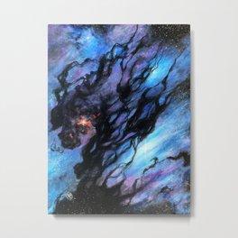 Black Nebula Metal Print