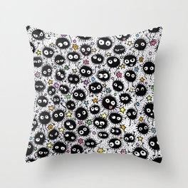 Soot Sprites Throw Pillow