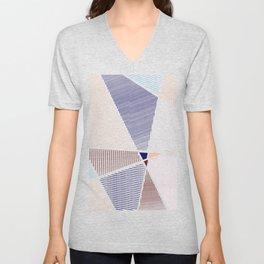 Striped in colors Unisex V-Neck