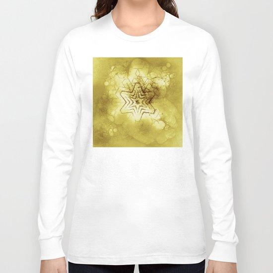 Star mandala in gold Long Sleeve T-shirt
