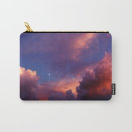 Moon in Sunset Clouds Carry-All Pouch