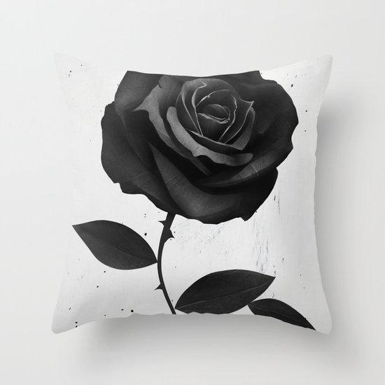 Fabric Rose Throw Pillow