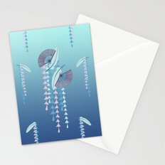 Fans & Feathers // Graphic Print Stationery Cards