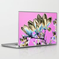 aelwen Laptop & iPad Skins featuring MAGNOLIA - PopArt by CAPTAINSILVA