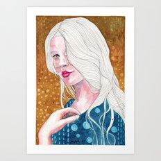 Magnolia, watercolor Art Print