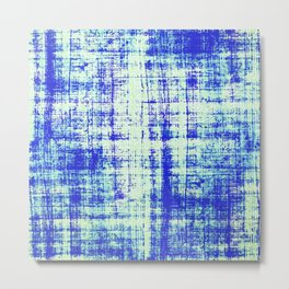 Blue Indigo Metal Print