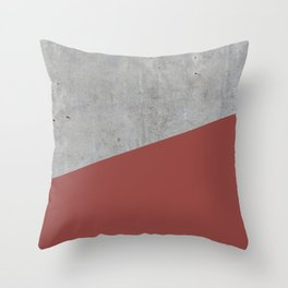 Concrete with Chili Oil Color Throw Pillow