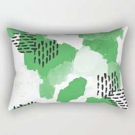 Mason - modern abstract painting gender neutral home decor for minimal Rectangular Pillow