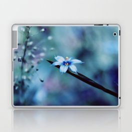 Blue on blue Flower Photography, Symphony in Blue Laptop & iPad Skin