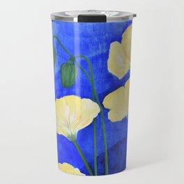 Yellow Poppies Travel Mug