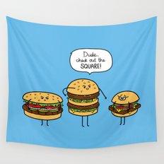 Burger Bullies Wall Tapestry