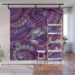 Midnight Aztec Swirls Wall Mural