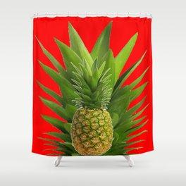 RED PINEAPPLE MODERN ART Shower Curtain