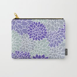 Periwinkle Grayish Blue Dahlias Carry-All Pouch