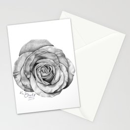 Rose Drawing Stationery Cards