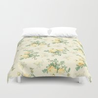 mercedes Duvet Covers featuring Yellow roses by Mercedes