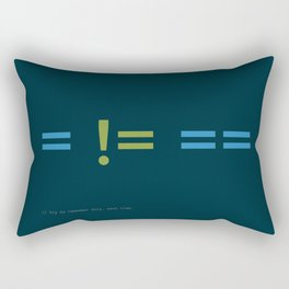 Assignment and Equality Rectangular Pillow
