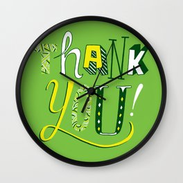 Thank You! Wall Clock