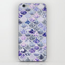 Purple and Ultra Violet Trendy Glitter Mermaid Scales iPhone Skin