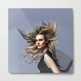 Diane Kruger - Celebrity Art Metal Print
