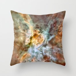 Carina Nebula, Star Birth in the Extreme Throw Pillow