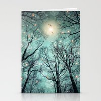 mint Stationery Cards featuring Nature Blazes Before Your Eyes (Mint Embers) by soaring anchor designs