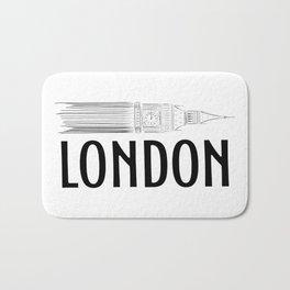 London Big Ben Bath Mat