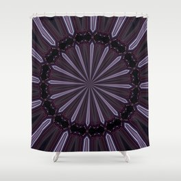 Eggplant and Pale Aubergine Abstract Floral Pattern Shower Curtain