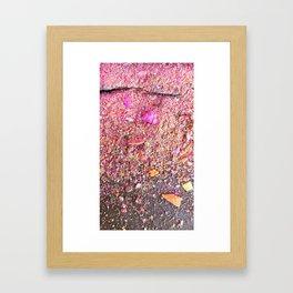 Chalk Dust Confetti Pinkish Framed Art Print