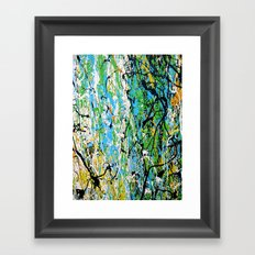 Echoed Splatter Framed Art Print
