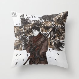Wine in the Forest Throw Pillow