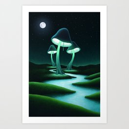 Mushroom Lamps Art Print