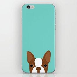 Red Boston Terrier iPhone Skin