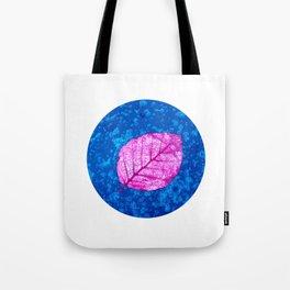 frosty pink leaf II Tote Bag