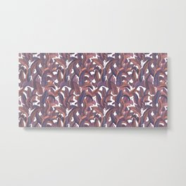 Strelizia leaves pattern Metal Print