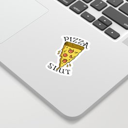 The hungry pizza sloot Sticker