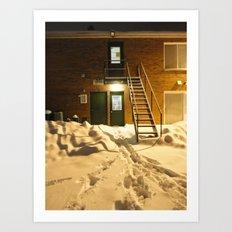 Urban Blanket Of Snow Art Print