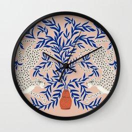 Leopard Vase Wall Clock