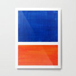 Colorful Bright Minimalist Rothko Orange And Blue Midcentury Modern Art Vintage Pop Art Metal Print